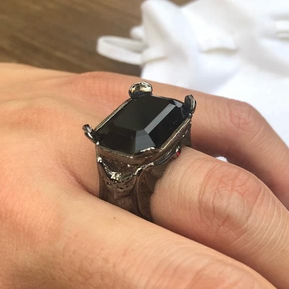 entusiasmo Inconsciente Mujer  Swarovski Jewelry | Atelier Swarovski Black Ring | Poshmark